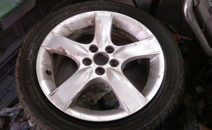 Alloy wheel refurbishment