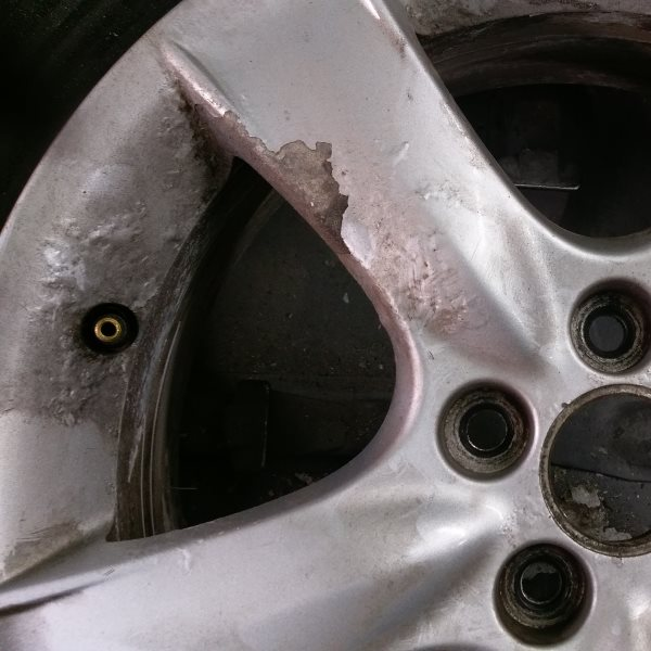 Alloy wheel corrosion and flaking